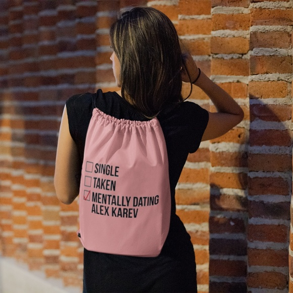 girl dating backpack